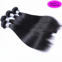 Wholesale Cheap Sales Human Hair Extensions - Clearance Sales!!!10 Bundles Lot Cheap Peruvian Hair Extensions Human Hair Weave 100% Unprocessed Natural Black Double Weft Hair Bundles