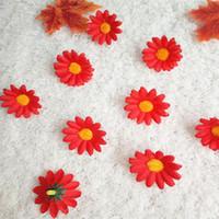 seide weihnachten groihandel-DIY Künstliche Blüte Weihnachtsdekoration Sonnenblumen Hause Kleine Daisy Seidenblumen Chrysantheme Sonne für Partydekorationen