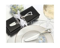 """Wholesale Butter Spreads - DHL free shipping """"spread the love"""" stainless steel maple leaf butter knife wedding favors for guest 200pcs lot"""