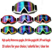 Wholesale Wholesale Dirt Bikes Cheap - 2016 Cheap Motocross Goggles Glasses Sport Cycling Eye Ware MX Off Road Helmets Goggles ATV Gafas Dirt Bike Downhill Glasses Wholesale
