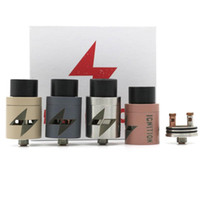 Wholesale Wholesale Ignition - Wholesale IGNITION RDA Rebuildable Atomizer with 22mm Wide bore drip tip PEEK Insulator 22mm Larger Air Chamber 5 colors Clone Vaporizer