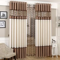 Wholesale Embroidery Curtain Fabric - High quality stitching nest embroidery yarns blackout curtains bedroom finished curtain fabric living room curtain bedroom curtains
