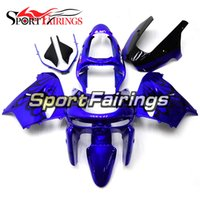 Wholesale Blue Zx9r - Fairings For Kawasaki ZX-9R ZX9R Year 98 99 1998 1999 Plastics ABS Motorcycle Full Fairing Kit Motorbike Bodywork Hulls Blue Black Flames