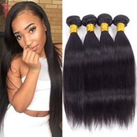 Wholesale hair weave fast delivery resale online - Brazilian Weave Bundles Products Mix Length Straight Virgin Brazilian Hair Weave Bundles Fast Delivery Items