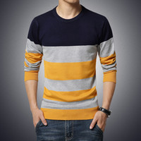 Wholesale Long Sleeve T Shirt Wool - Cashmere Sweater Men 2016 Brand Clothing Mens Sweaters Fashion Print Casual Shirt Wool Pullover Men Pull O-Neck slim long sleeve Dress T 5XL