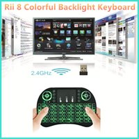 Rii I8 Смарт Fly Air Mouse Remote Keyboard Подсветка 2.4GHz Беспроводная связь Bluetooth пульт дистанционного управления Сенсорная панель Для MXQ m8s T96 TV Box