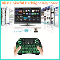 Rii I8 intelligent Fly Air Mouse à distance Clavier rétro-éclairage 2.4GHz Wireless Bluetooth à distance Touchpad commande Pour MXQ M8S T96 TV Box