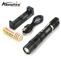 AloneFire X370 Potente linterna LED Cree XPL 1000 lumen antorcha Linterna de alta potencia 18650 Luminous Display 6 modos
