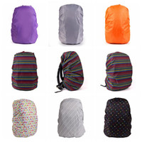 Wholesale Outdoor Backpack Raincoat - 33 Colors Practical Waterproof Dust Rain Cover For Travel Camping Backpack Rucksack Bag Outdoor Luggage Bag Raincoats 500pcs LJJO2976