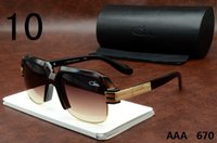 Wholesale Men Cazal Sun Glasses - Cazal 670 Eyeglasses Sunglasses Hot Sale 2016 New Mens Plank Sun Glasses Gradient Brand Designer Luxury Polarized Glasses Black Blue