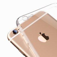 ingrosso casi cristallini del telefono delle cellule-Custodia morbida per iPhone 6S 4.7inch Plus 5.5inch TPU Custodia protettiva per telefono cellulare ultra sottile trasparente