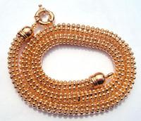 Wholesale 18k Ct Chain - 18K CT Gold Filled Men's woman Rhombus 50cm Lenght Heavy Chain Necklace globule