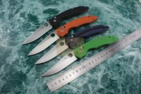 Wholesale Curved Blade Folding Knife - Benchmade 806 High Quality Work 4 Colors Curved G10 Folding knife Millitary Style D2 Stonewashed Blade Camping Tactical EDC knife