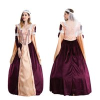 Wholesale Greek Goddess Costumes For Women - Halloween role play clothes Greek goddess Egyptian pharaoh queen costume for cosplay European palace restoring ancient ways of dress