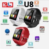 compagnon de téléphone u8 montre intelligente achat en gros de-Date U8 montre Smart Watch Bluetooth Phone Mate Watch pour Android Samsung IOS avec la boîte Retai