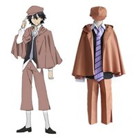 Anime Bungo Stray Dogs Detetive Ranpo Edogawa Cosplay Costumes Vest Cloak Pants Tie Hat Uniform Suit Outfit
