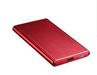 dizüstü masaüstü ssd toptan satış-Toptan Satış - Superslim drawblash100% Alüminyum Sata USB3.0 2.5