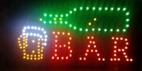 Wholesale led custom bar signs resale online - 2016 direct selling custom led screen signs X19 inch semi outdoor led bar open sign LED bar club sign led billboards