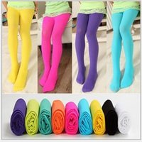 Wholesale Girls Opaque Tights - Girls Tights Pantyhose Leggings Stockings Opaque Colour Girls' Velvet Pantyhose Girl Tights Cute Leggings Girl Socks KB356