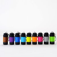 Wholesale Plastic Rechargeable Flashlight - Brand New Mini Pocket Torch Keychains USB Rechargeable LED Light Creative Flashlight Lamp Key Chain Keyring 9 Colors Available Rotate Switch