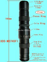 Wholesale Vision Microscopes - Wholesale-New Machine vision lenses c-mount mini monocular TV microscope with iris ring with 0.5c Lens