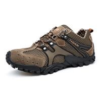 Wholesale Travel Shock - The New Style of Men Outdoor Mountaineering Walking Shoes Sports Shoes Cortable Travel Anti-skid Wear-resistant Shock Absorption