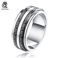 Wholesale Male Ring Black Titanium - Fashion Accessories Simple Black and Sliver Great Wall Men Male Ring Titanium 316L Stainless Steel Rings GTR12