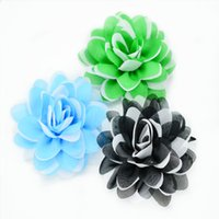 Wholesale Christmas Presents Ornaments - Christmas wreath ornaments accessories - festive present party supplies - baby kids clothing fabric flower xmas scallop petals rose flower