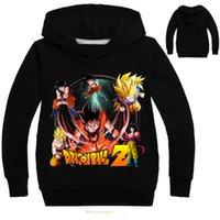 camisetas oxford al por mayor-Niños Dragon Ball Z Ropa Abrigo Niños Sudaderas y sudaderas Camiseta de manga larga Para niños Niños Niñas Ropa