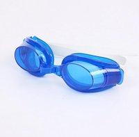 ücretsiz yüzme gözlükleri toptan satış-ÜCRETSIZ FEDEX erkekler için ayarlanabilir gözlük kadın ve çocuklar yüzmek gözlük Anti-sis gözlük eğlence gözlük 400 adet