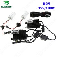Wholesale Ac Hid Kits - 12V 100W Xenon Headlight D2S HID Conversion xenon Kit Car HID light with AC ballast For Vehicle Headlight KF-K2002-D2S