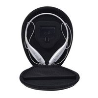 Hot selling Pu Leather Protection Carrying Box for Lg Electronics Tone LG HBS730 Stereo Wireless Bluetooth Headset - Black