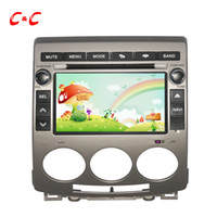 Novo Capacitive Screen Car DVD Player para Mazda 5 com GPS Rádio de navegação BT USB / SD SWC Wifi Mirror link