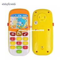 Abbyfrank Electronic Toy Phone Musical Mini Cute Children Toy Éducation précoce Cartoon Téléphone portable Téléphone Téléphone portable Jouets pour bébé