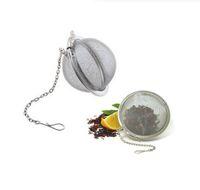 teefilter ball großhandel-Edelstahl Teekanne Infuser Sphere Locking Spice Tee Ball Sieb Mesh Infuser Teesieb Filter Infusor Kostenloser Versand