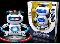 Wholesale Electric Music Rotating - The New Space Robot Dance Electric 360-degree Rotating Infrared Light And Music White Dance Space Robot 259