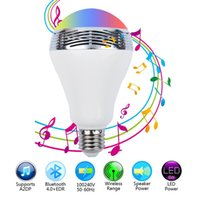 Wholesale Mini Mobilephone - Bluetooth speakers LED Color Bulb Light colored bulb By Mobilephone control White Super Bright Light speaker Bulb
