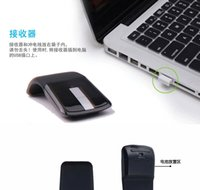 Wholesale Arc Optical - 2017 folding second generation peacekeeping soft second generation 2.4GHZ upgrade Arc Touch wireless touch optical mouse