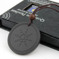 Wholesale Quantum Pendant Necklace Scalar Energy Pendant with Negative Ion Energy Pendant Black Lava Stone Jewelry Negative Ion Science Bio Pendant
