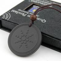 Wholesale indian necklaces stones for sale - Quantum Pendants Necklace Scalar Energy Pendant with Negative Ion Energy Pendant Black Lava Stone Jewelry Negative Ion Science Bio Pendant