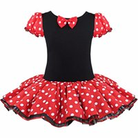 Wholesale Sheath Dress Kids - 2016 Kids Gift Minnie Mouse Party Fancy Costume Cosplay Girls Ballet Tutu Dress+Ear Headband Girls Polka Dot Dress Clothes Bow free shipping