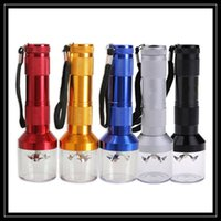 Wholesale Machine Torch - Newest Torch Shape Electric Herb Grinder Aluminum Metal Herbal Crusher Personal Handle Machines For Smoking Pipe Vaporizer Pen Wholesale