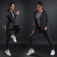 Wholesale Wholesale Running Jackets - New sports jacket female zipper hooded running jacket fashion wild cardigan hooded sportswear jacket
