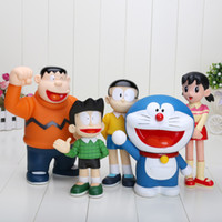 Wholesale Family Goods - 5pcs set Doraemon 19cm 7.5 inch PVC Action Prototype Toy Doraemon Models Garage Kit 10-12cm Family Sets