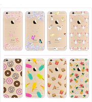 Wholesale Various Paints - Original Silica Gel Cell Phones Cases Cover Various Cartoon Style Painting for iPhone 6 6s