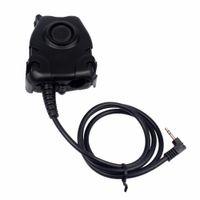 Wholesale Walkie Talkie Noise - Black Waterproof PTT Cable for Motorola Walkie Talkie T6200 1 PIN for Z Tactical H50 H60 HD01 HD03 Noise Reduction Headset J6517