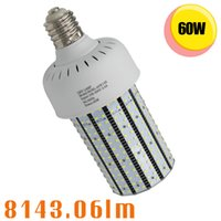 120V 240V 277V 347V 480V 60W LED Corn Light E26 E39 Base Socket Remplacer 150W Metal Halide Wall Pack Fixture Lamps 5000K 6000K