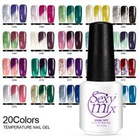 Wholesale Mixed Uv Gel - Sexy Mix 7ML 10Pcs Temperature Change Chameleon Color Changing UV Nail Gel Polish Long Lasting UV Gel Nail Varnish