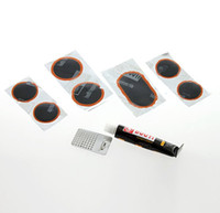 Wholesale Set Patch Bike - Bike Cycling Tyre Rubber Patches Glue Repair Kits Sets Tools#