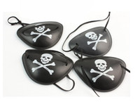 Wholesale Kids Plastic Party Bags - Pirate Eye Patch Skull Crossbone Halloween Party Favor Bag Costume Kids Halloween Toy Craft Gifts
